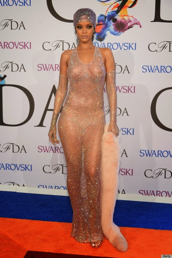 Rihanna see through dress, CDFA