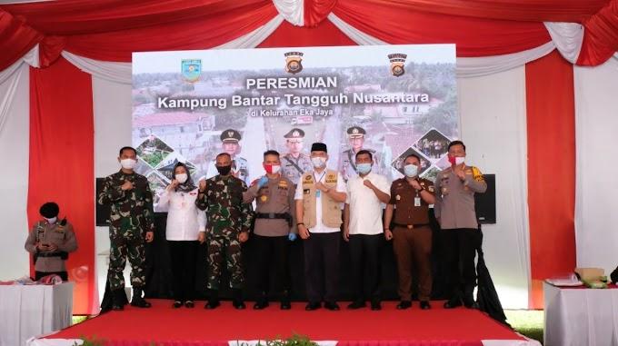Polda Jambi Meresmikan Kampung Bantar Tangguh Nusantara di Kelurahan Eka Jaya Kec Paal Merah