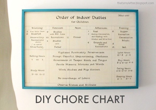 diy chore chart handpainted wall art