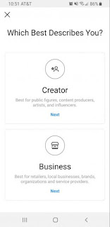 Make Business or creator account   instagram followers tips