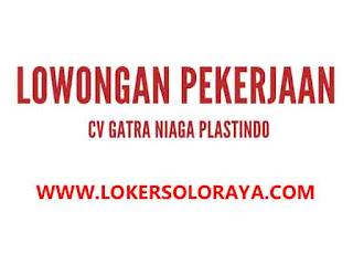 Lowongan Kerja Karanganyar PPIC dan Marketing di CV Gatra Niaga Plastindo
