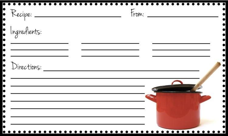 index card recipe template - zrom