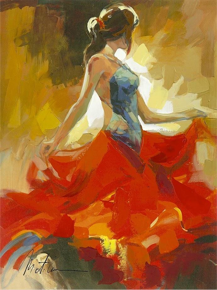 Anatoly Metlan Woman in Red