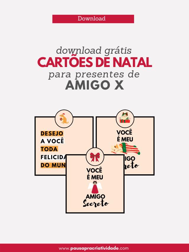 3 modelos de Cartões para Amigo x | Download Free