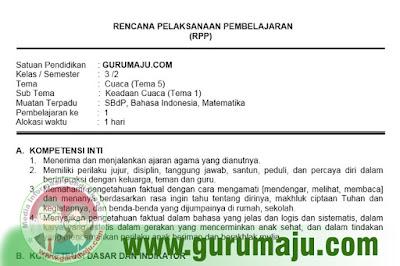 RPP Kelas 3 Tema 5 Kurikulum 2013 Revisi 2018
