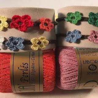 Pulseras Flores a Crochet