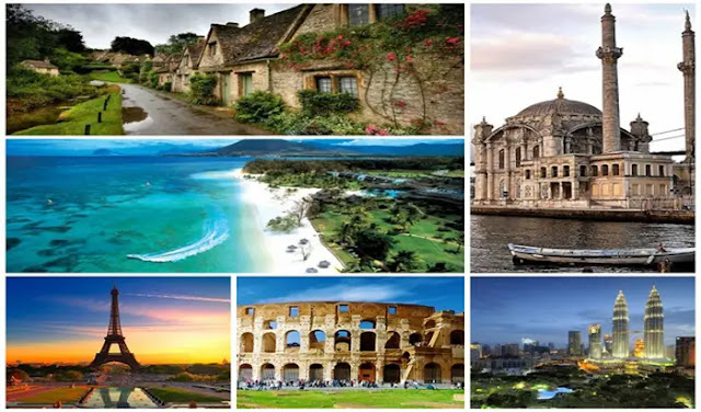 the Months touristic monuments in the world