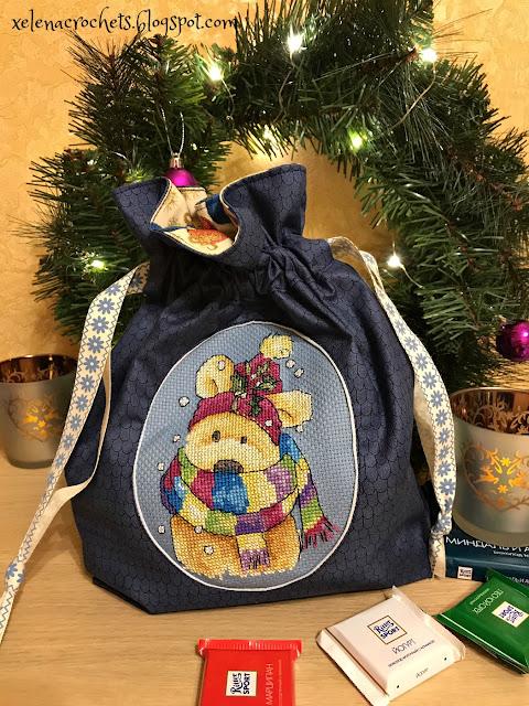 подарочный мешок с вышивкой прикладное оформление