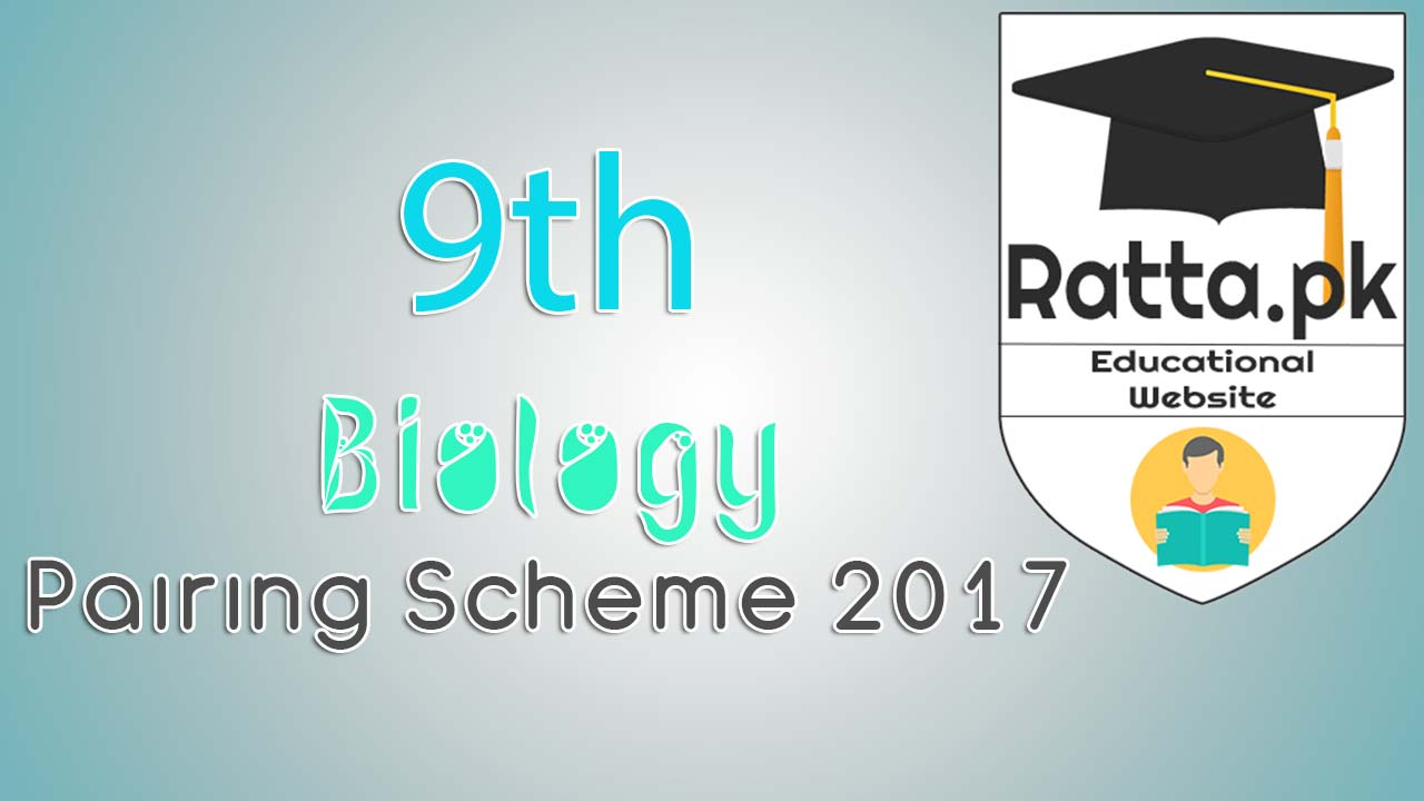 9th Biology Pairing Scheme 2017 - Matric 9th Assessment Scheme