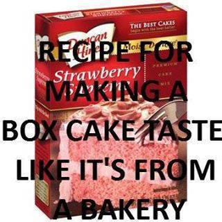 Recipe For Making Box Cake Taste Like Bakery