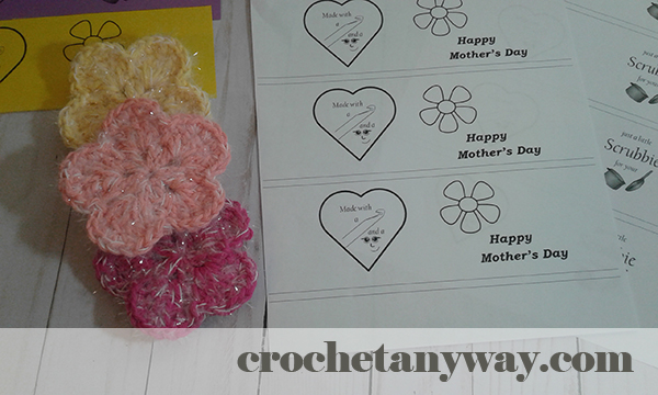 Mother's day labels for crochet items