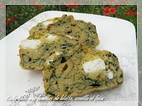 Cake salé aux feuilles de blettes, oseille et feta sans gluten