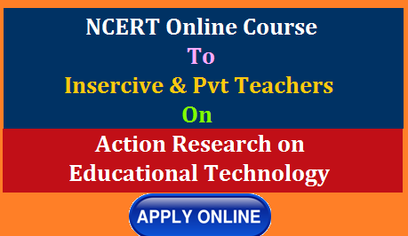 Online Course on Action Research in Educational TechnologyCentral Institute of Educational Technology (CIET), NCERT announces its Online Course on Action Research in Educational Technology for the year 2020- 21. This Two-Credit online course is specially developed for the teacher educators at elementary level working in District Institutes of Education and Training (DIETs), different State Councils of Educational Research and Training (SCERTs) and State Institutes of Education (SIEs).