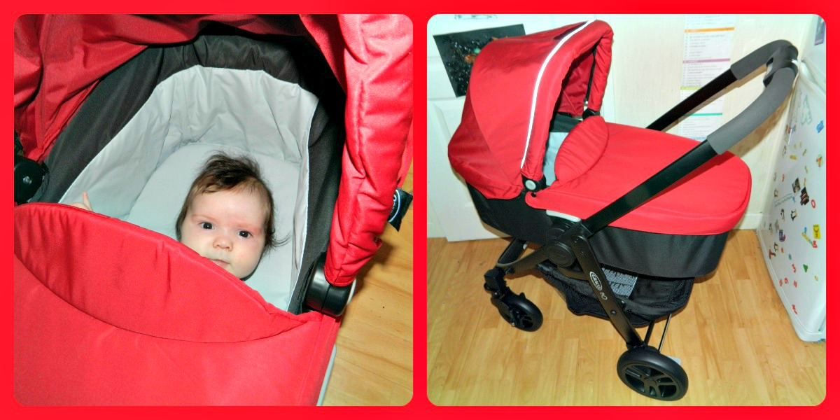Graco Evo Week The Graco Evo Carry Cot Red Rose Mummy