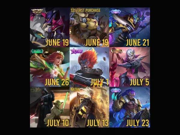 Bocoran Skin Mobile Legends Bulan Juni dan Juli 2021