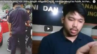 Pada Akhirnya Pria yang Tantang Anggota TNI Minta Maaf