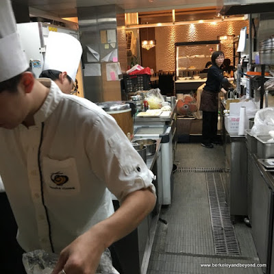 kitchen at Noodle House in Taipei, Taiwan