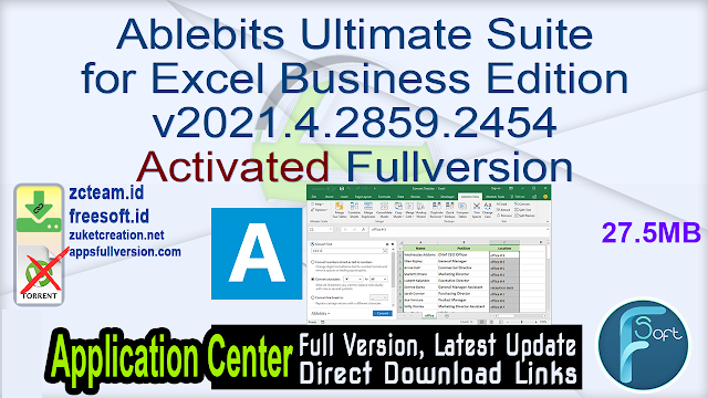 Ablebits Ultimate Suite for Excel Business Edition v2021.4.2859.2454 Activated Fullversion