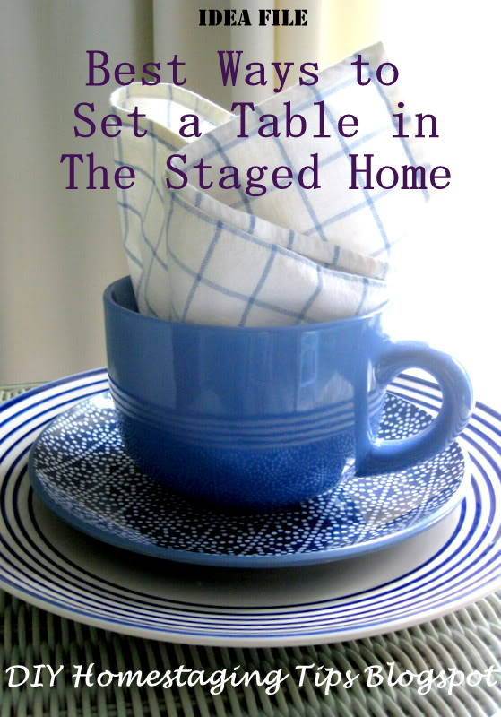 & DIY Home Staging Tips: Here\u0027s How to Set the Table in Your Staged Home