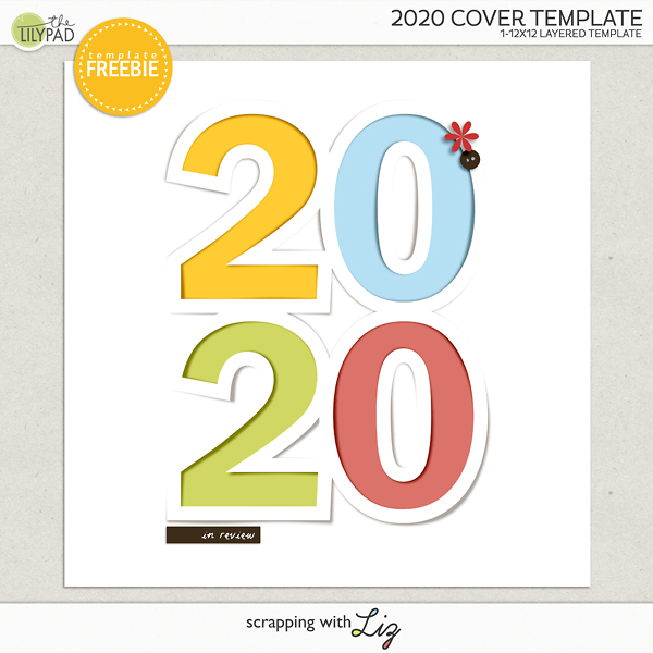 2020 Digital Scrapbook Cover