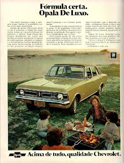 propaganda Opala de Luxo - 1972