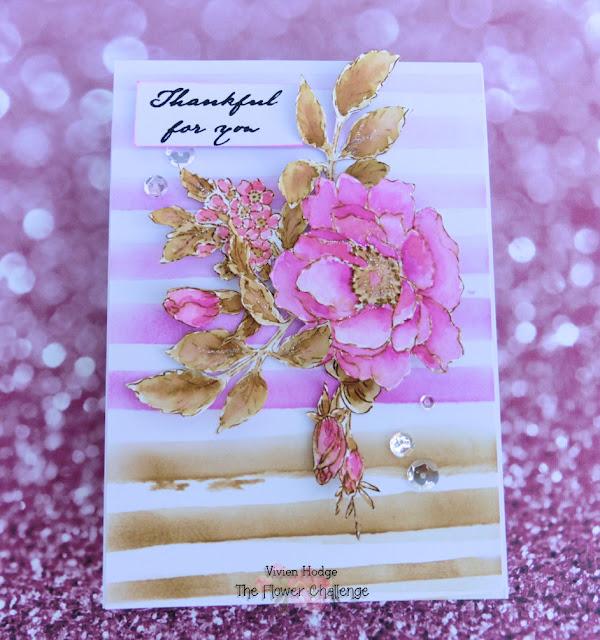 Altenew, Beautiful Day, Pink, Flowers