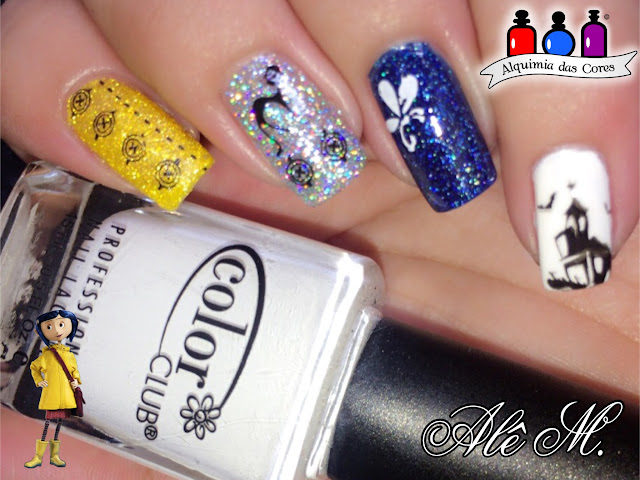 mix `n match, Coraline, Picture polish, Mishap, Lemon Lolly, DRK, 100 palavras, Brilhant Blue, Color Club