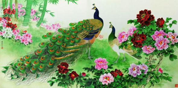 Beautiful Peacock Paintings