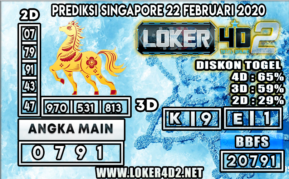 PREDIKSI TOGEL SINGAPORE LOKER4D2 22 FEBRUARI 2020