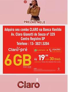 Compre o chip da Claro na Banca Vanildo em Registro-SP