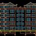 مشروع عمارة سكنة Apartment building اوتوكاد dwg