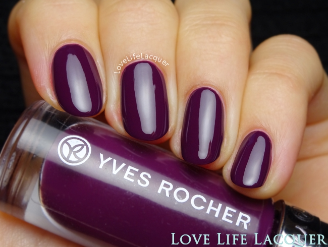 Yves Rocher Aubergine Profond swatch review