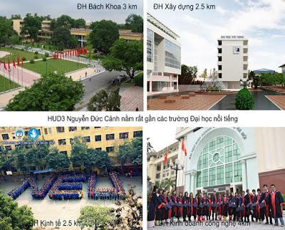 Trường học khu vực chung cư Hud3 Nguyễn Đức Cảnh