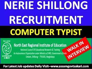 NERIE, Shillong Recruitment 2019