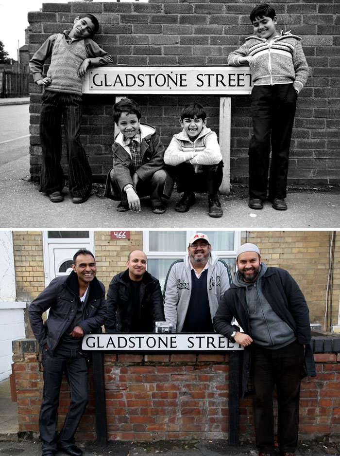 Photographer Recaptures Old Pictures Creating A Beautiful Reunion Of People He Photographed Decades Ago - Good Friends (1980 And 2015)