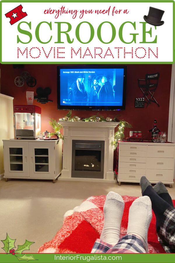 Holiday Movie Night - Everything you need for a Scrooge Movie Marathon and how to make holiday movie night at home extra special by Interior Frugalista. #holidaymovienight #christmasmovieideas #festivechristmasideas