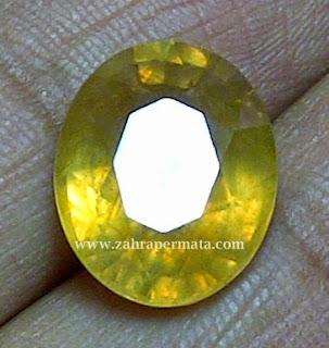 Batu Permata Yellow Safire Langka