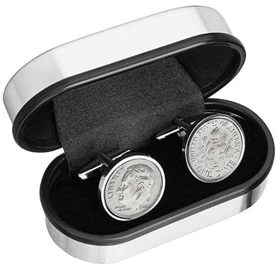 coin cuff links 10th anniversary gift
