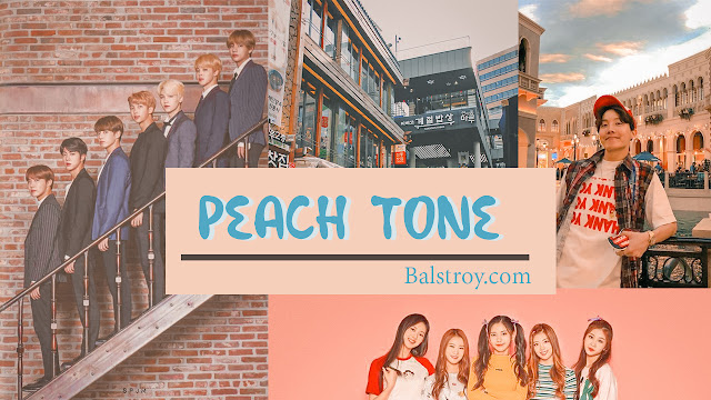 peachy tone lightroom keren