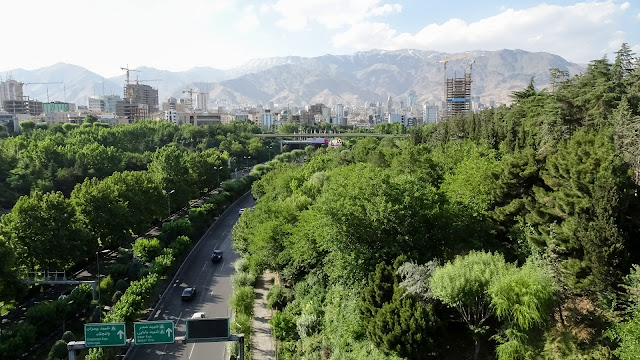 Tabiat bridge the largest pedestrian bridge Tehran