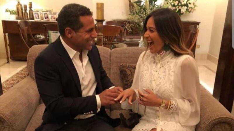 شاهد خطوبة أمينة خليل و عمر طه بالصور .. حصريا