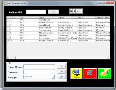 free program Pembayaran SPP Siswa, download aplikasi Pembayaran SPP Siswa lengkap, download program Pembayaran SPP Siswa lengkap,source code program Pembayaran SPP Siswa vb6