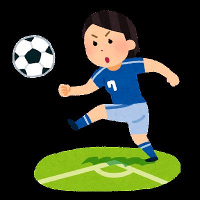 コーナーキックのイラスト(女子サッカー)