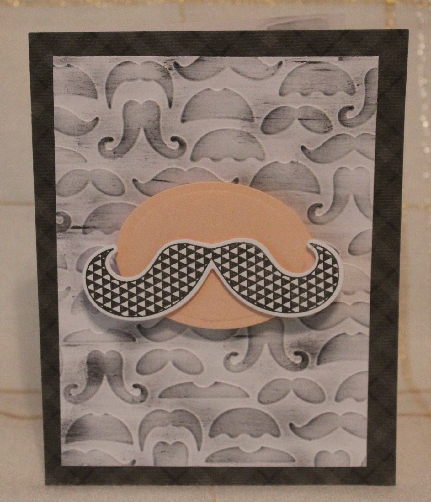 Flesh colored cardstock - Used A Wobble On Back Of Flesh Color Cardstock Behind Stamped Die Cut Hero Arts Mustache