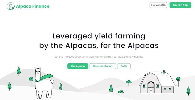 Screenshot Website Alpaca Finance (ALPACA)