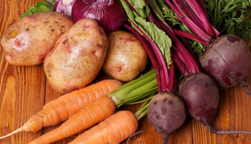 assortiment de légumes bio d'hiver