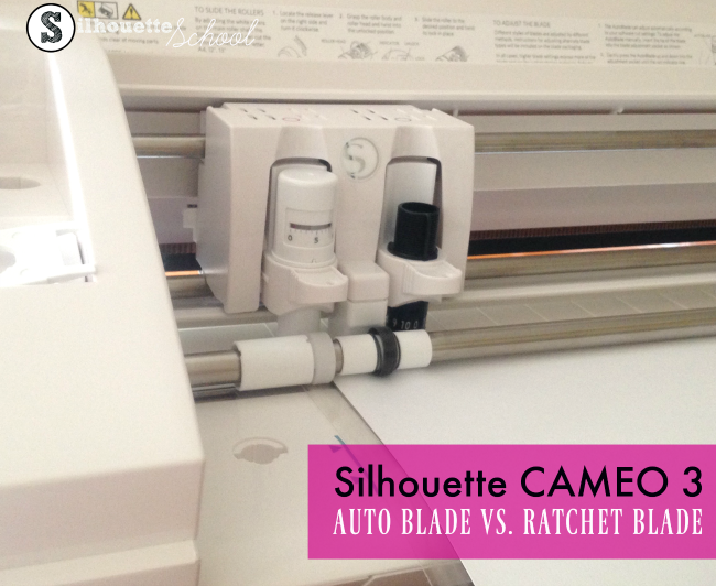 New Silhouette CAMEO 3 auto blade auto adjusting regular ratchet blade video