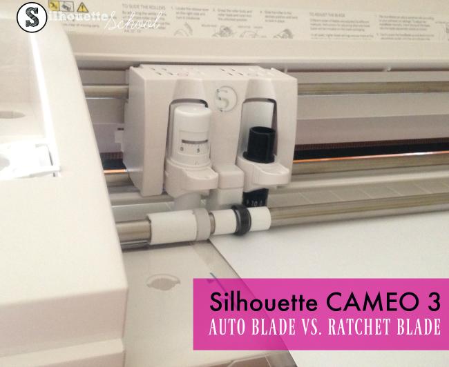 New Silhouette CAMEO 3 auto blade auto adjusting regular ratchet blade video