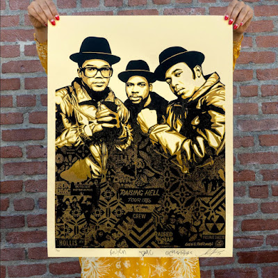 "Obey Giant ""RUN-DMC Raising Hell"" Screen Print by Shepard Fairey x Glen E. Friedman"
