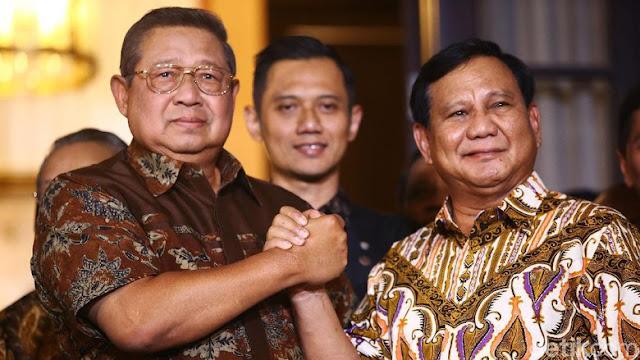 Pernyataan Lengkap SBY-Prabowo Tegaskan Target Menang Pilpres 2019